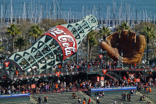 Coke Bottle and Glove - AT&T Park - San Francisco