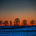 Winter sunset at Valley Forge by martinlang