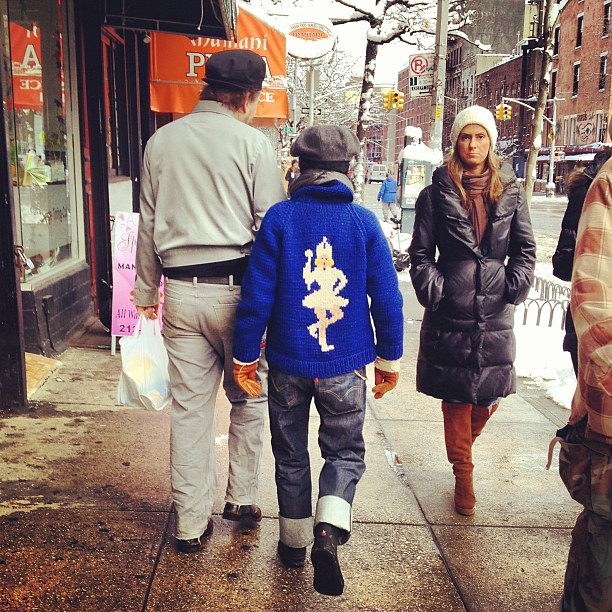 Snow fashion in the East Village #Nemo