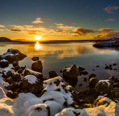 sunset iceland þingvellir tingvellir sólsetur vertorama hphson