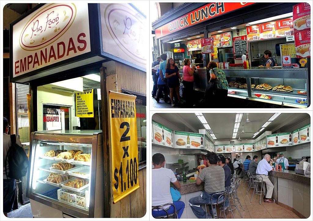santiago lunch places