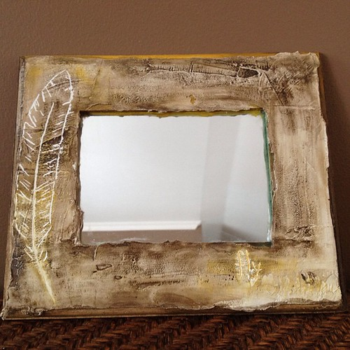 My finished shallow carved, plastered mirror. Completely inspired by @stephanielynnlee amazing book.. Listing on #etsy tomorrow..