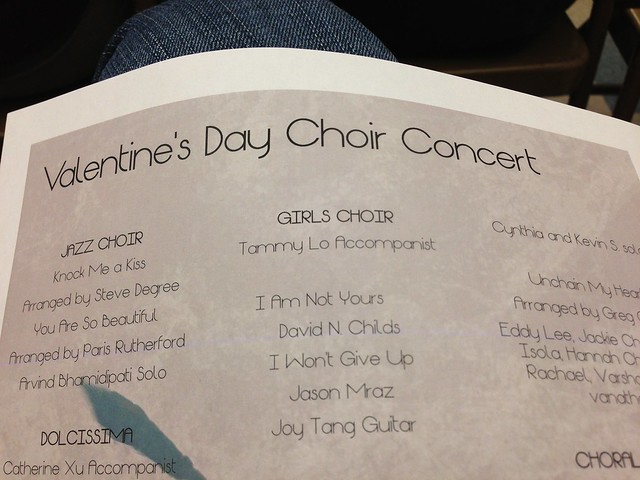 Valentine's Day Choir Concert