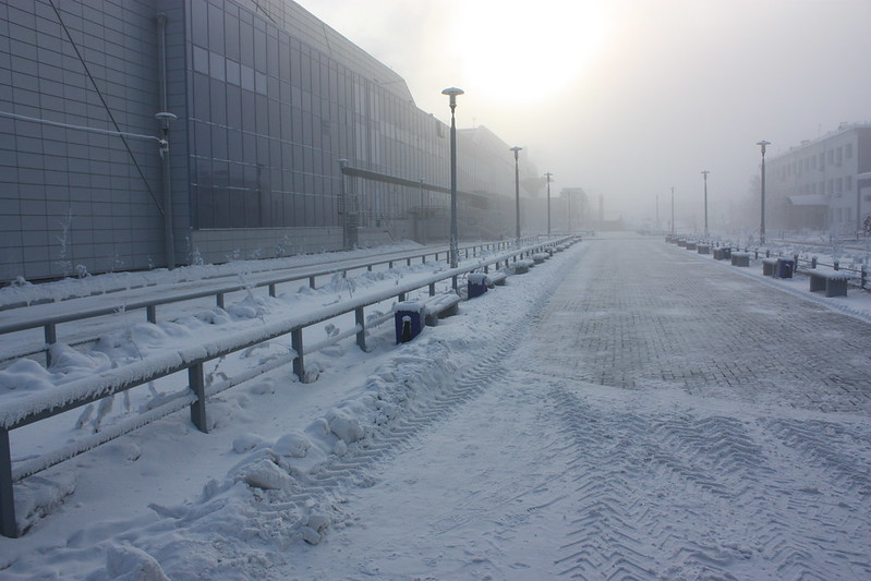 Airport terminal in Yakutsk