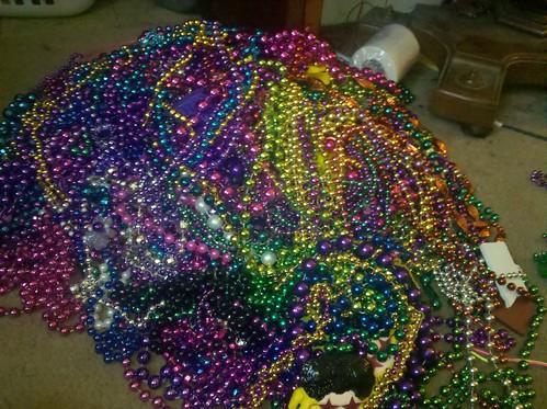 Bead pile