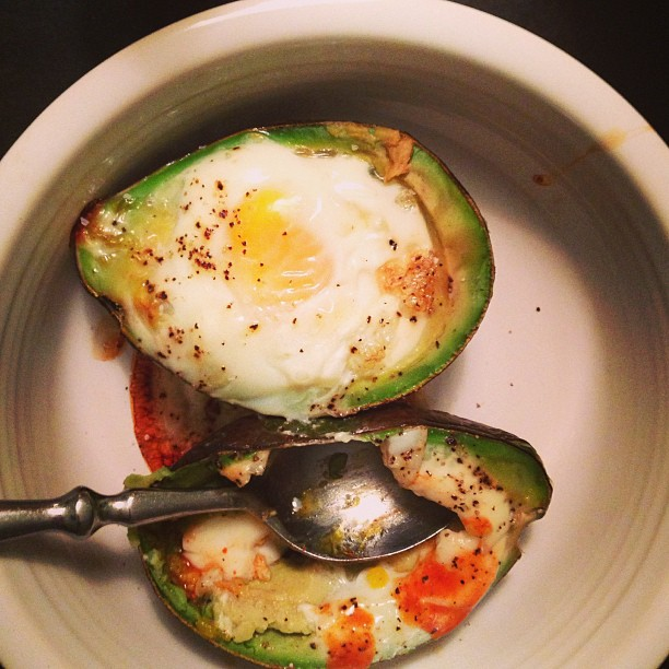 eggs baked in avocados