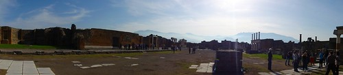 Panorama of Pompeii forum