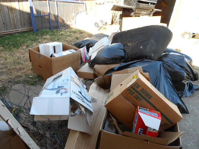 Trash from Shed