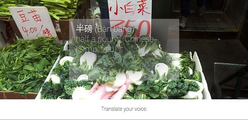谷歌 Glass for Buying Vegetables in 越过