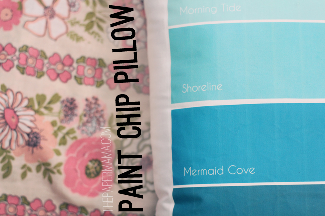DIY-ify: Paint Chip Pillow