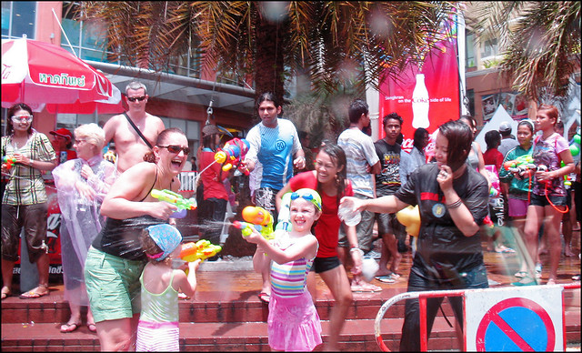 Family Fun - Songkran 2009, Patong Beach Phuket