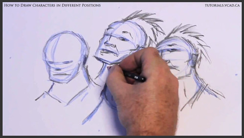 learn how to draw characters in different positions 017