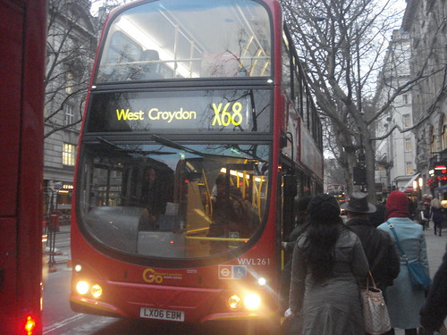Go-Ahead London Central WVL261 on Route X68, Holborn