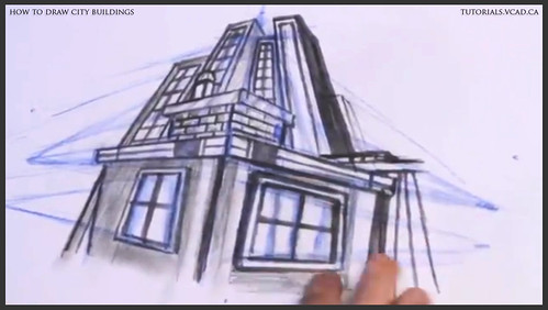 learn how to draw city buildings 034