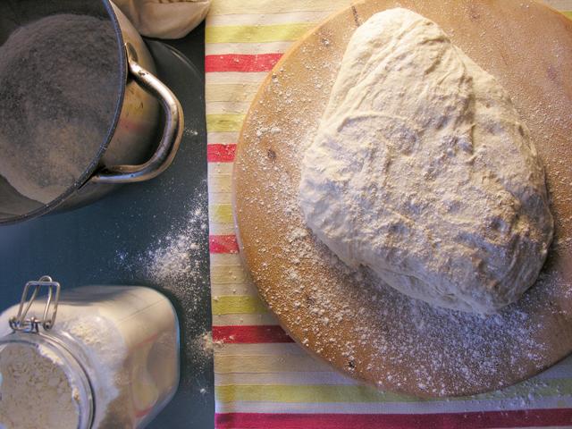 massa de pão caseiro