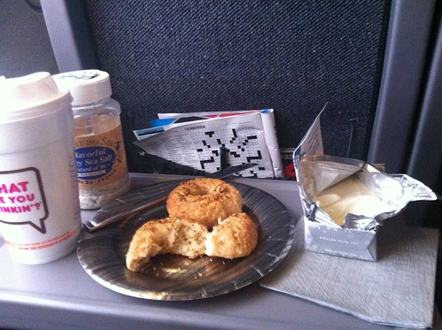 homemade everything bagels on the train to DC
