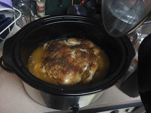 Crockpot Chicken, done!