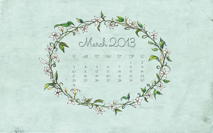 March 2013 Calendars