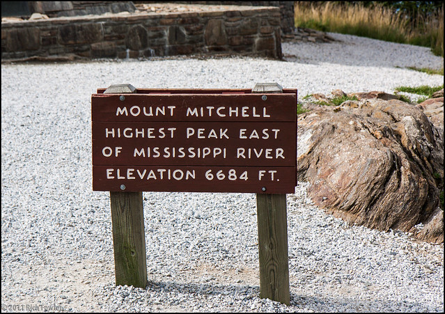Mt. Mitchell--Sign