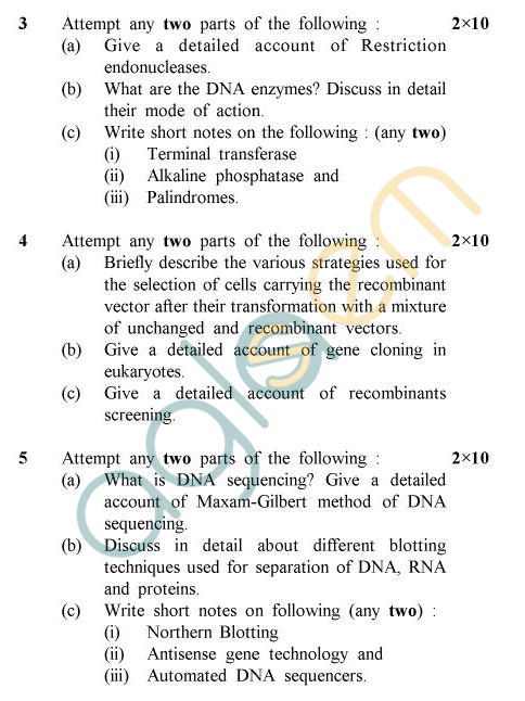 UPTU B.Tech Question Papers -TBT-604 - Genetic Engineering