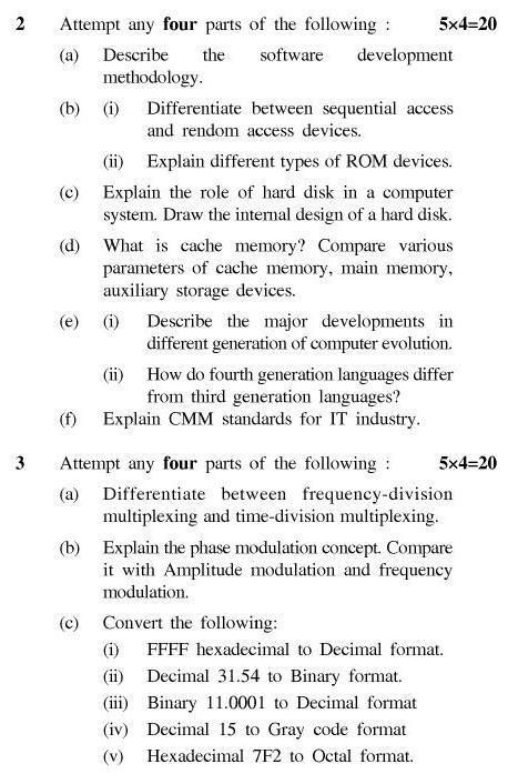 UPTU B.Tech Question Papers - TIT-201-Information Technology