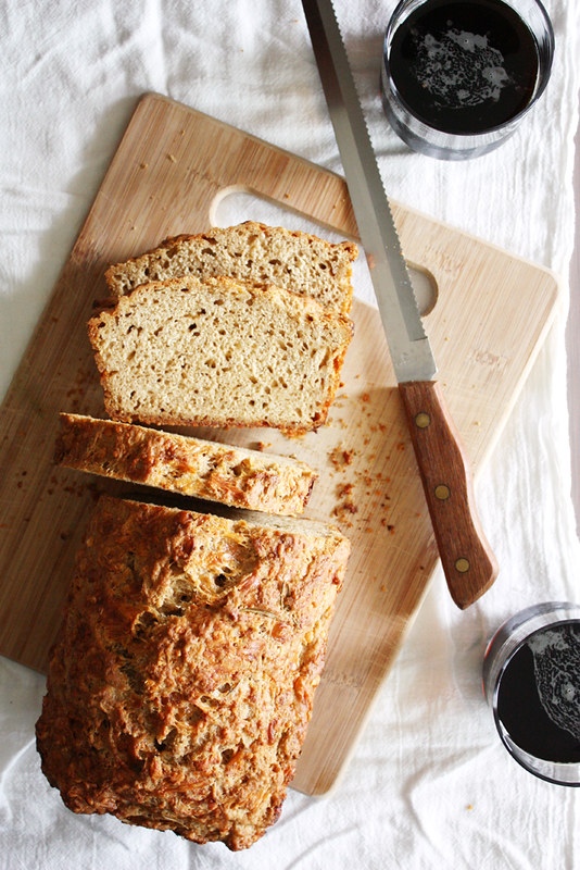 Gruyere Rosemary Beer Bread | girlversusdough.com @girlversusdough