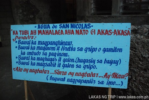 Agua de San Nicolas rules and regulations on how to get water from the faucet at Banton Island, Romblon
