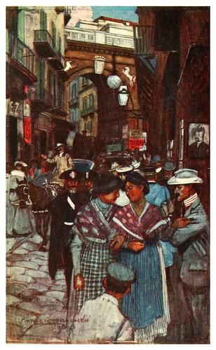 020-Strada di Chiaia en Napoles-Naples  past and present-1905-Maurice Grieffenhagen