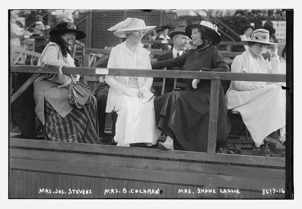 Mrs. Jos. Stevens, Mrs. B. Cochran [i.e., Cockran], Mrs. Shane Leslie  (LOC)
