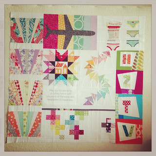 Monica's traveling quilt