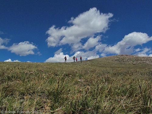 Hiking up Wymont Peak along the Beartooth Highway, Shoshone National Forest, Wyoming