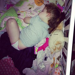 #aidkaid crawled into what was miller's crib to sleep tonight lol #sillygirl #oops