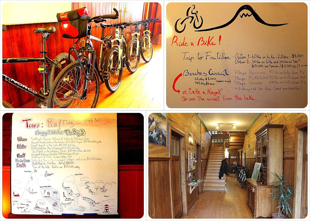 Puerto Varas Margouya 2 Hostel bikes and tours