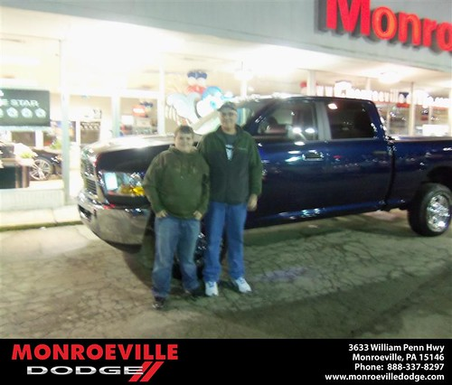 Congratulations to Marty Goss on the 2012 Dodge Ram by Monroeville Dodge