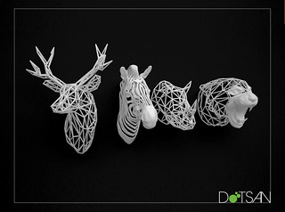 3D Printed Animal Head Collection