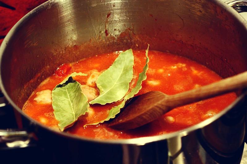 zuppa di fagioli e salsiccia (fagioli all'uccelletta)