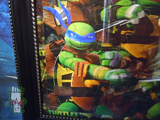 CARDINAL :: Nickelodeon TEENAGE MUTANT NINJA TURTLES - 48 Piece Lenticular Puzzle // tOkKustom matte & framed iv  (( 2012 ))