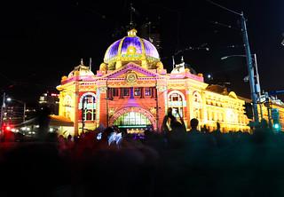 White Night Melbourne // Nuit Blanche Melbourne - Flinders Street Station