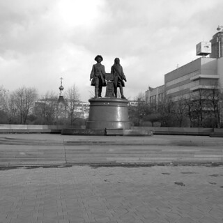 Monument to the founders of the city, Tatischev and De Gennin (1998).