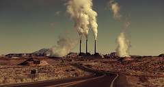 [Free Images] Architecture, Factory, Smoke, Road / Path, Power Plants ID:201303241200