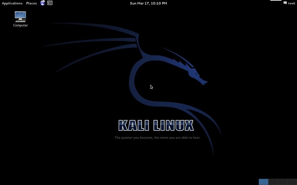 Kali Linux GNOME desktop