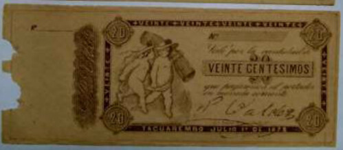 Uraguay 20 cent note