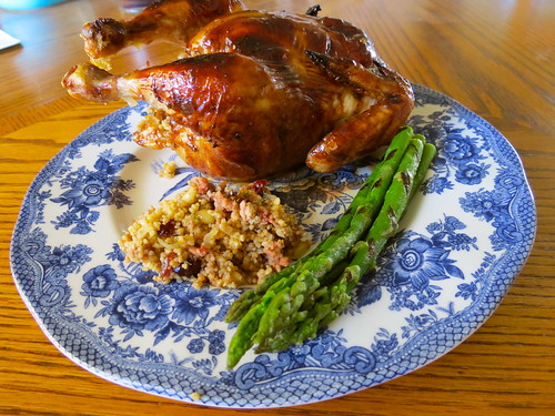 America's Test Kitchen Roast Cornish Game Hen with Cous Cous Stuffing