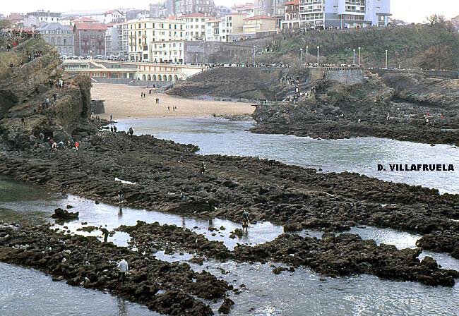 marée du Siècle à la plage du Port Vieux de Biarritz, le 27 mars 1967 météopassion
