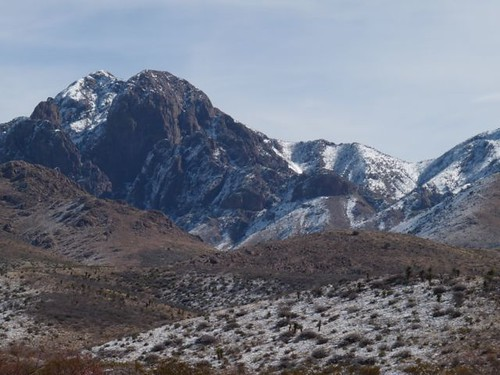 Organ Mountains in Winter