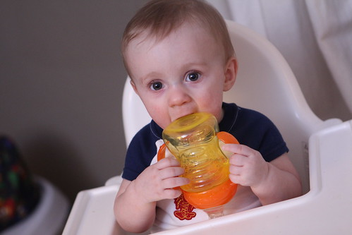 Martin with Sippy Cup