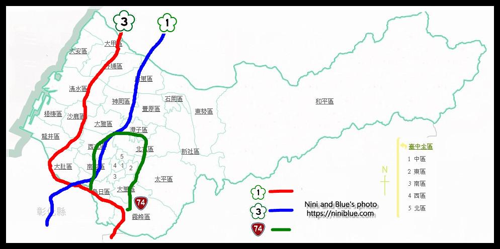 台中分區地圖