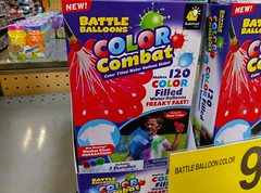 Color-filled water balloons!