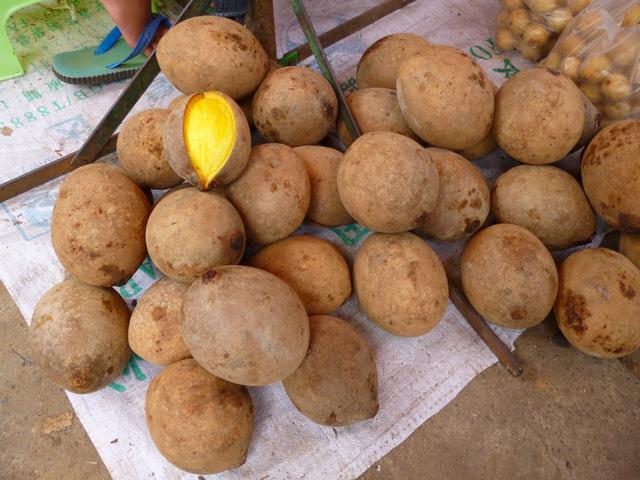 Unknown fruit at Kota Belud market