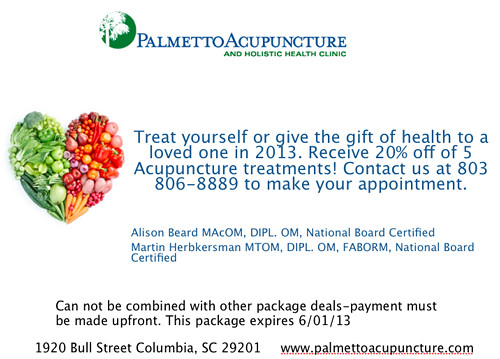Deal from Palmetto Acupuncture!